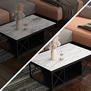 Matte Grey White Marble Contact Paper Peel and Stick Countertops Marble Wallpaper for coffee table