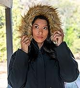 Wantdo Giacca da Sci Impermeabile Parka da Snowboard Antivento Cappotto da Montagna con Cappuccio...