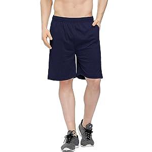 blue cotton shorts mens
