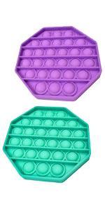 green purple octagon pop bubble