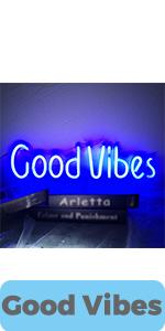 Good Vibes LED Sign