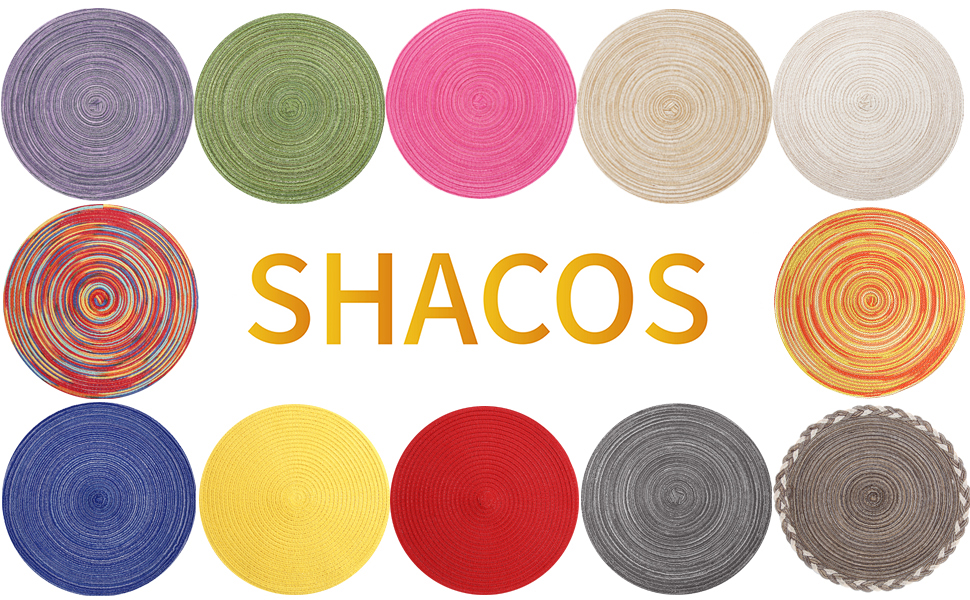 shacos round braided placemat