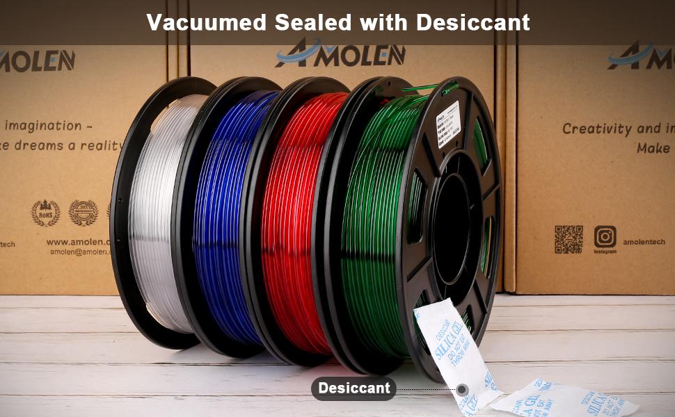 Vacuumed sealed