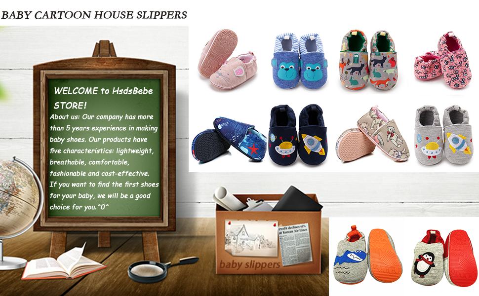 BABY CARTOON HOUSE SLIPPERS