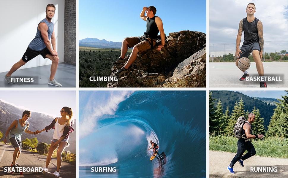 Perfect for Fitness Climbing Basketball Running Surfing Outdoor Sport
