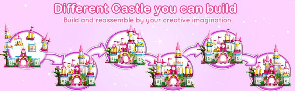 Dream Castle Building Toys for Girls