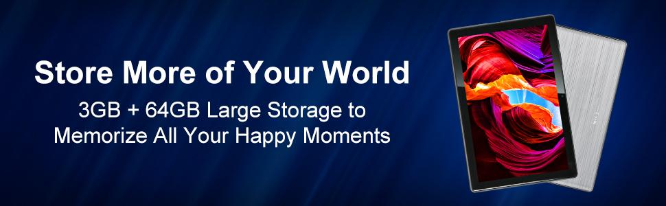 3GB+64GB Large Storage to Memorize All Your Happy Moments