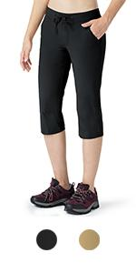 Naviskin Women's Hiking Capri Pants UPF 50+ Water Repellent Outdoor Camping Pants…