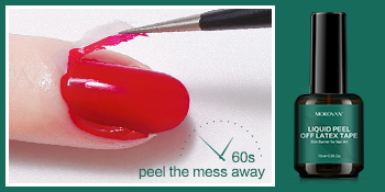Morovan Gel Nail Polish Remover Kit Quick Easy Soak-Off Gel Polish Liquid Latex Peel Off Barrier