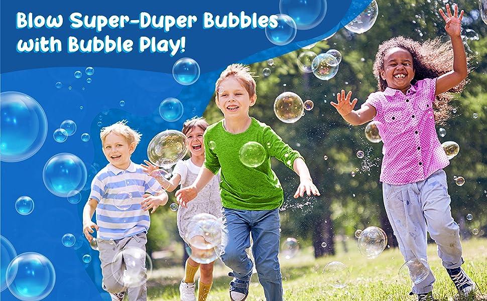 blow super duper bubbles with Bubble Play