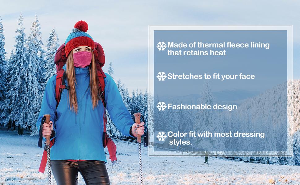 winter neck gaiter for women