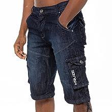 Dark blue shorts, combat shorts, comfortable shorts, mens fashion shorts, multipocket shorts