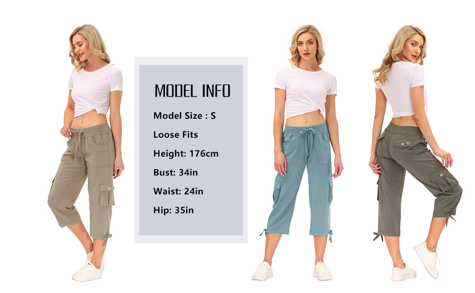 Women's Hiking Cargo Pants Quick Dry Lightweight Summer Pants for Women Camping Travel Workout Pants
