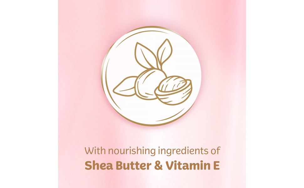 Infused with Shea Butter & Vitamin E