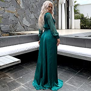 Sexy loose fitting maxi prom dress