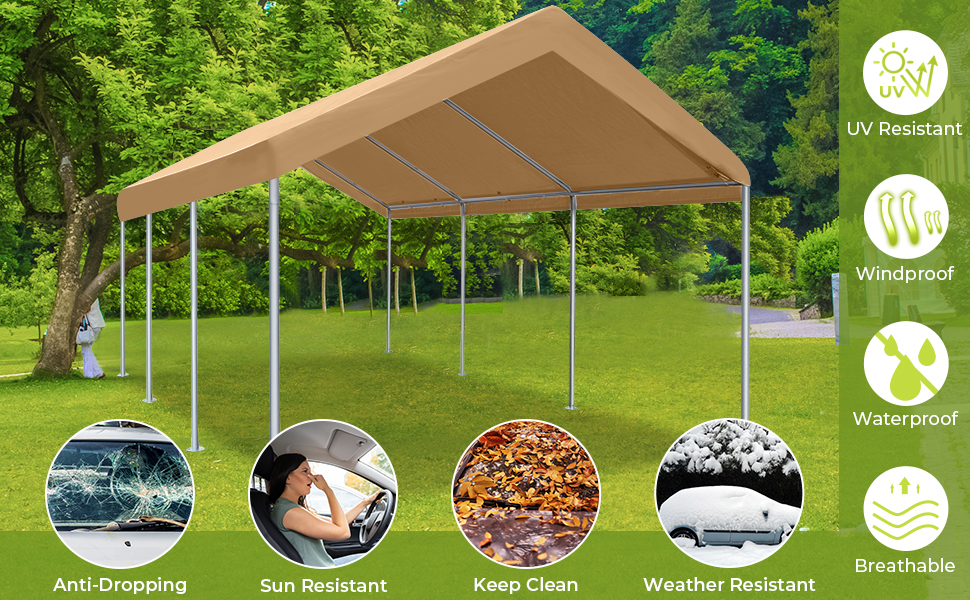 carport canopy 10x20 heavy duty portable garage car tent rv shed outdoor storage shelter