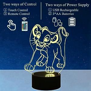 Lion King 3D Night Light