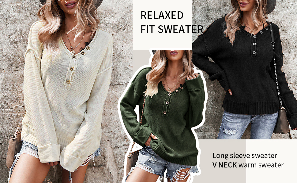 fashion solid color knit pullover