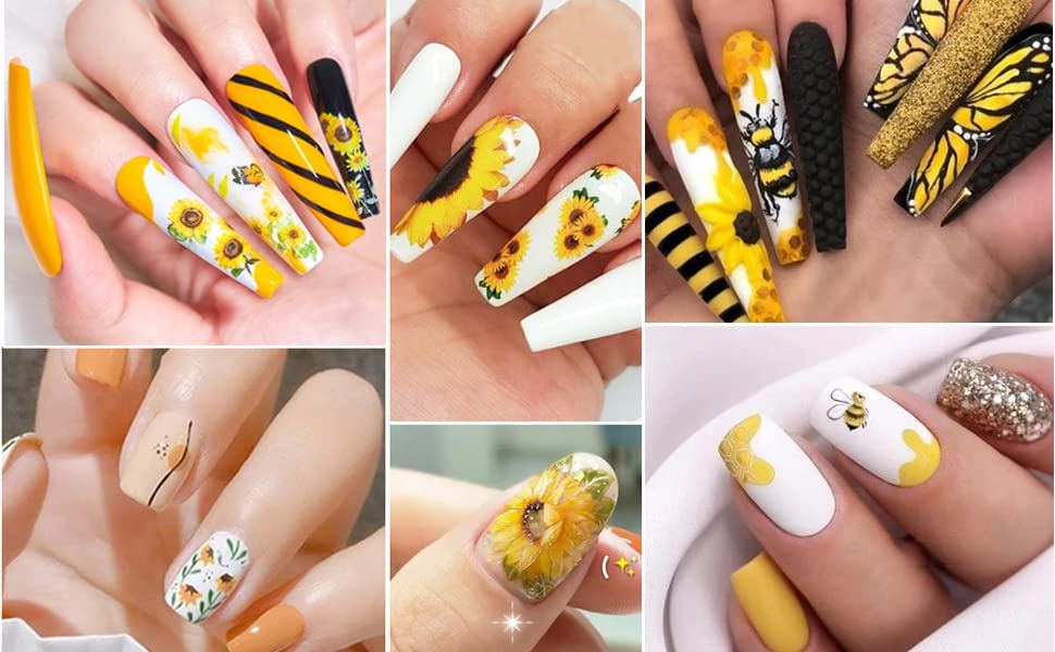 daisy nail water decals