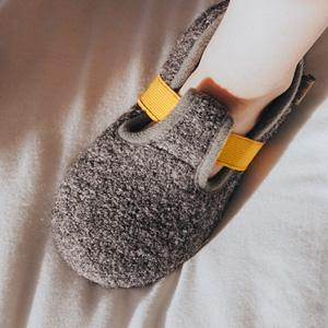 HomeTop Boys Girls Comfy Wool Felt House Shoes Light Weight Stretchable Elastic Band Slippers