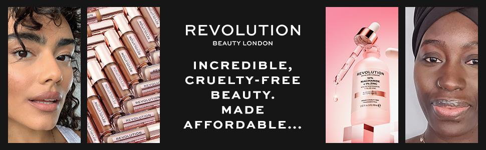 revolution beauty makeup cruelty free vegan light foundation clear skin mascara