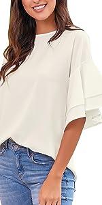 women casual blouse tops