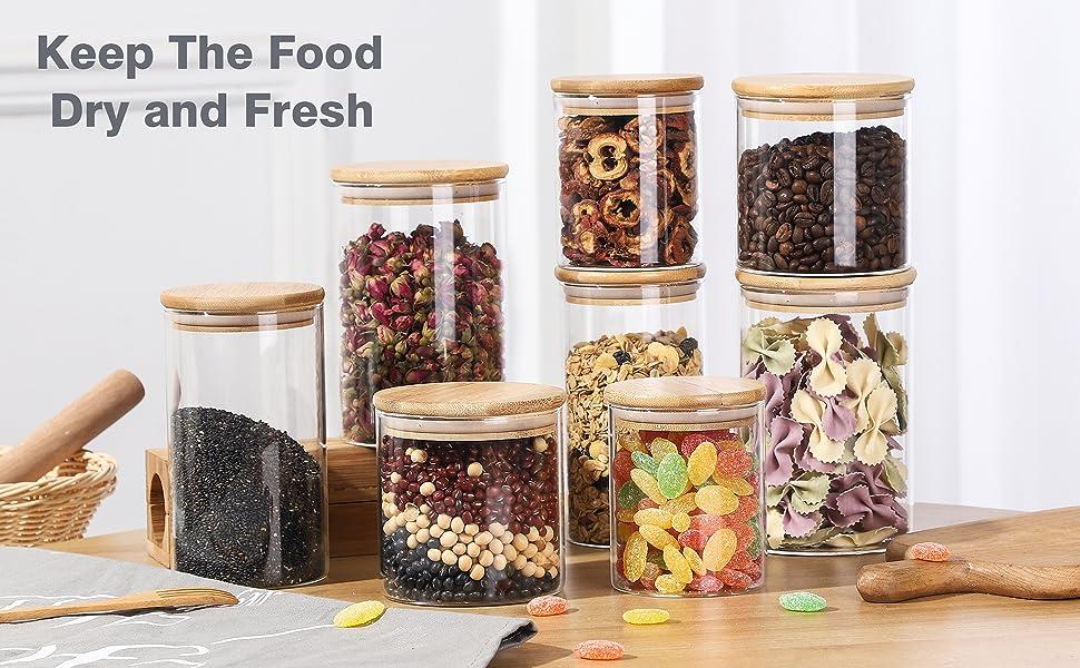 30 oz Glass Food Storage Jars