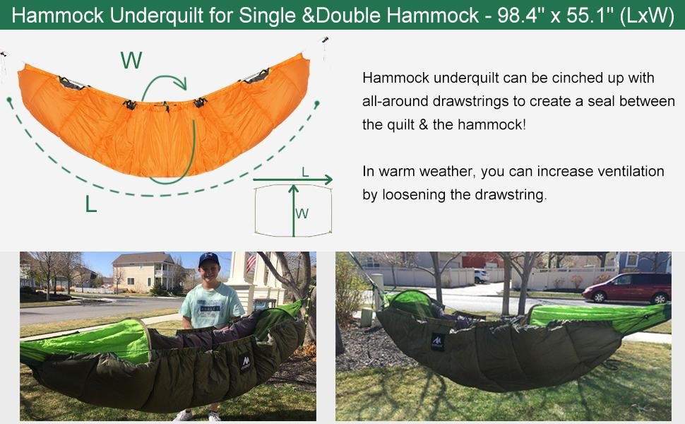 single or double hammock underquilt