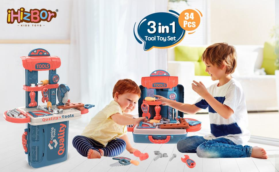 3 in 1 Tool Toy Set for Toddler KIds