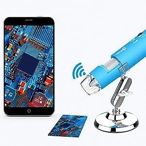 Wireless Digital Microscope Handheld USB HD Inspection Camera 50x-1000x Magnification