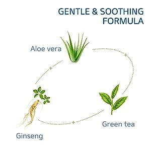 Gentle & soothing formula