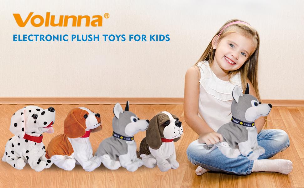 Dog Interactive Barking Puppy Plush Animated Pet Electronic Dog Cute Robot Dog Baby Toys