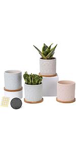 4 inch ceramic planter pots