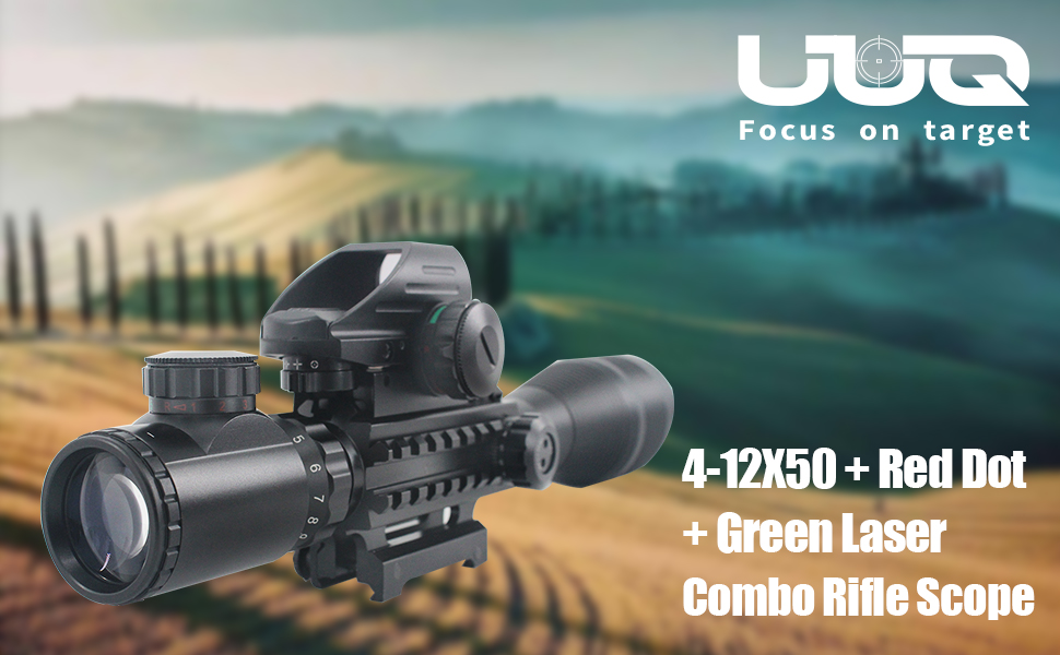 4-12X50+Dot Sight+Green Laser Main Best Holographic Sight