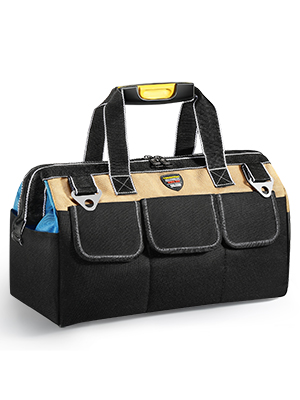 Portable Tool Bag with Waterproof Construction and Multiple Interior and Exterior Pockets