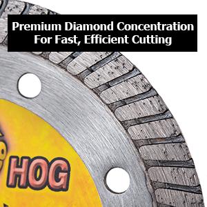 boss hog hand held turbo diamond blade concrete masonry cutting 4.5 inch