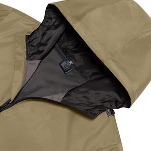 windproof jacket with hood