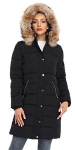 Womens Warm Puffer Coat Parka Jacket
