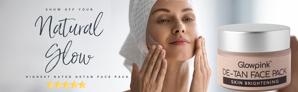 Glowpink De tan Face Pack