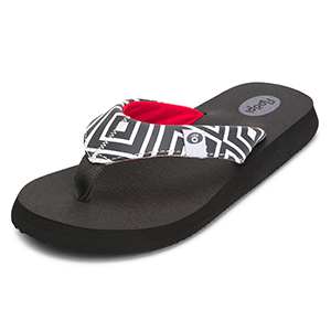 Floopi Classic Summer Flip Flop Thong Sandals for Women with Comfort Strap Yoga Mat Insoles