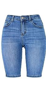 Women's Bermuda Shorts Stretch Jeans