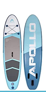apollo inflatable paddle board life foot paddles roc aqua baord boarding peak tower drop stitch