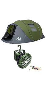 ayamaya pop up tent with camping lantern fan
