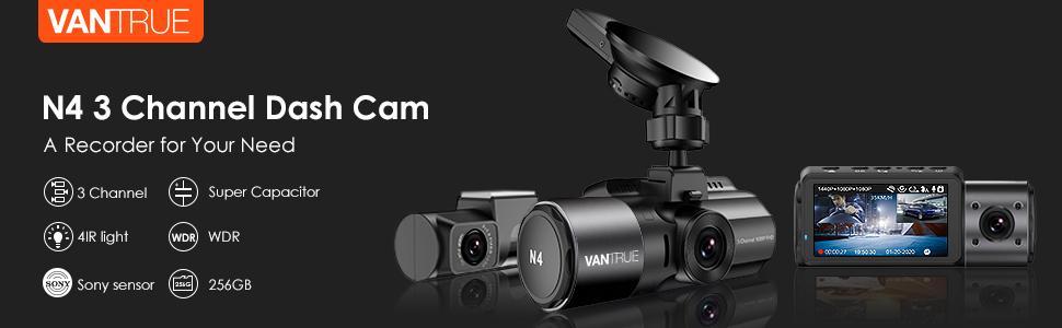 Vantrue 3 channel dash cam