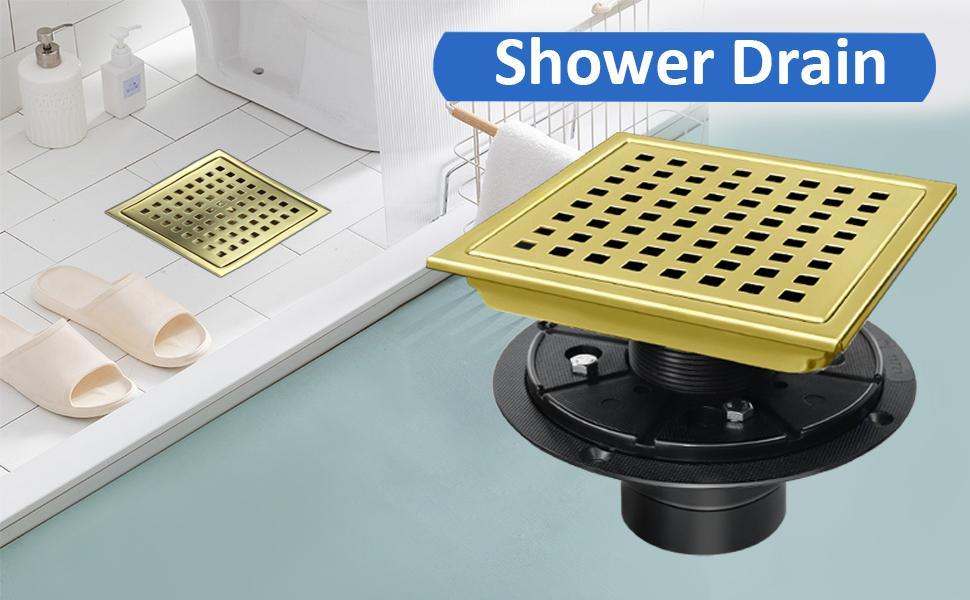 shower drain gold