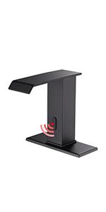 Automatic Sensor Touchless Bathroom Sink Faucet DC Powered Sensor Hands Free Bathroom Tap