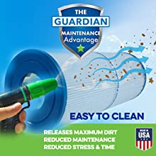 Guardian Filtration Easy to Clean Pool and Spa Filters | Made in USA Pool Cartridge Filters