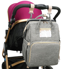 diaper bag with foldable crib