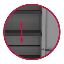 hauteur réglable terry store age armoire étagère