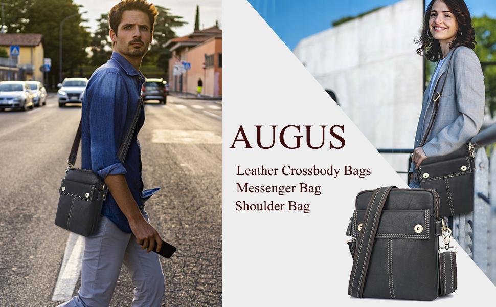 Augus leather crossbady bag